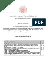 Bando Professioni Sanitarie 2017- 18 Università Di Bologna