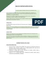 Normas de Contratación Estatal (Resumen)