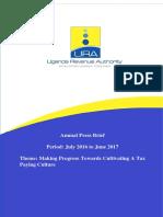 URA Year 2016-17 Revenue Figures