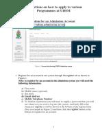 UDSM Online Application Guide