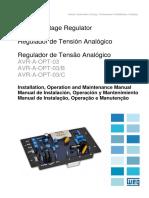 Regulador de Tension Analogico, Manual de Instalacion Operacion y Mantenimiento