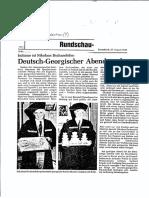 Niko Djanelidzes Archiv. (1) Deutsche Presse