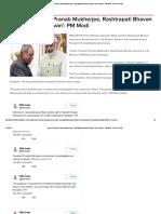Under President Pranab Mukherjee, Rashtrapati Bhavan Became 'Lok Bhavan'_ PM Modi
