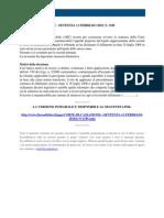 Fisco e Diritto - Corte Di Cassazione n 3185 2010