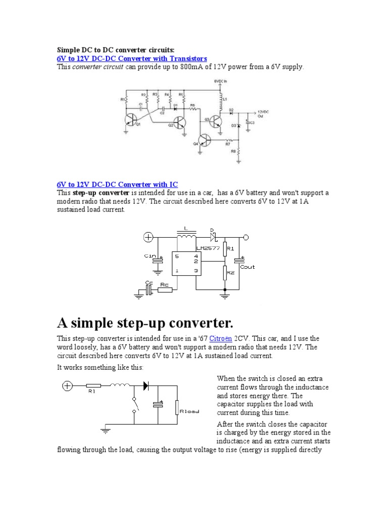 Simple Dc Circuits Career Circuit Wiring And Diagram Hub To Converter Inductor Voltage Power Supply