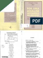 7. PECHEUX, Michel. Analise de Discurso Três Épocas. 1983. in GADET e HAK Por Uma Análise Automática Do Discurso. 1969. Ed Da Unicamp. 1997.
