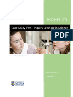 case study two - inquiry learning in science mark thomas 18608112 - final
