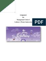 Assignment on Cadbury Management Crisis