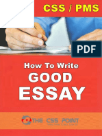 How to Write Good Essay in CSS Exam