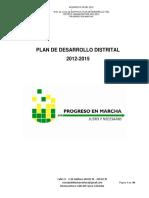 Plan de Desarrollo Distrital 2012-2015