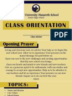 Class Orientation 17-18