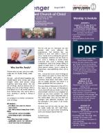 August 2017 E-newsletter