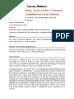 De-1A_3rd Sem - Course Abstract
