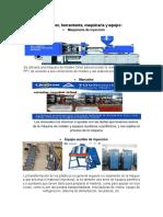 Materiales, herramienta, maquinaria y equipo