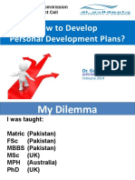 How to Develop Personal Development Plans