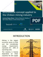 Procemin 2015 bound4blue concept applied to the Chilean mining industry