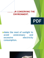 TIPS FOR CONSERVING THE ENVIRONMENT.pptx