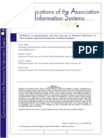 FINAL W-updated Formulas - Diffusion of Innovations and the Theory of Planned Behavior in Information Systems Research
