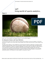 Beyond Moneyball Therapidlyevolvingworldofsportsanalytics,PartI