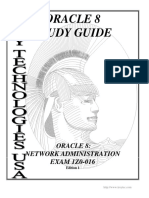 1Z0-016 Oracle 8 Network Administration