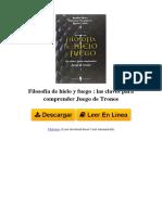 ⋙ Filosofía de hielo y fuego - las claves para comprender Juego de Tronos-8494178911