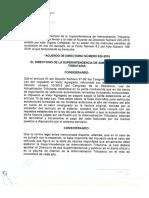 Acuerdo Directorio 025-2016