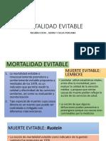 Mortalidad Evitable