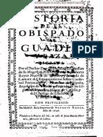SUÁREZ, P. (1696) Historia Del Obispado de Guadix y Baza