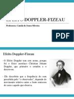 Efeito Doppler Fizeau