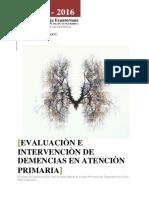Evaluaciòn e Intervenciòn de Demencias en Atenciòn Primaria