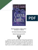 Resumen Del Libro Cadena Critica
