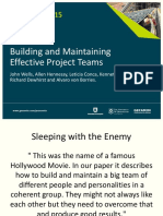 Procemin 2015 Building and Maintaining Effective Project Teams