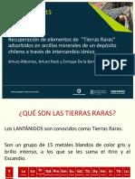 """Procemin 2015 Recuperación de elementos de """"Tierras Raras"""" adsorbidos en arcillas minerales"""