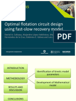 Procemin 2015 Optimal flotation circuit design using fast-slow recovery model.