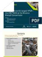 Procemin 2015 Building the world's largest HPGR – the HRC™3000 at the Morenci Metcalf Concentrator