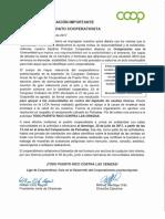 Liga de Cooperativas- Notificación 30 jul 2017 a Penuelas-en apoyo a comunidades por deposito cenizas toxicas