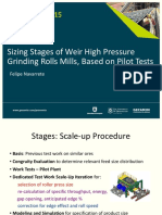 Procemin 2015 Sizing Stages of Weir High Pressure Grinding Rolls Mills, Based on Pilot Tests