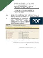 Pengumuman Hasil PQ Perencanaan Teknis Jembatan TA.2017