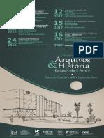 """9a sessão do Ciclo de Seminários """"Arquivos & História"""