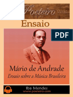 Mario de Andrade Ensaio Sobre a Musica Brasileira