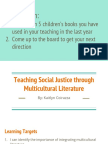 teaching social justice through multicultural literature