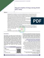Knowledge Regarding Prescription of Drugs Among Dentists