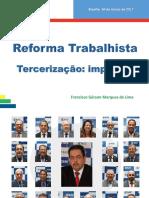 1 Francisco Reforma Trabalhista Terceirização 2017 Resumido