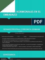 Factores Hormonales en El Embarazo