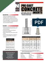 Inserto de Concreto PZI_sellsheet_2006