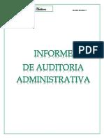Informe Auditoria Administrativa