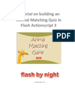 Tutorial - Create an Animal Matching Quiz in Flash As3