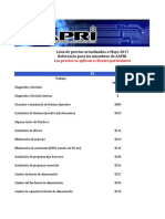 Guía de Precios de AAPRI