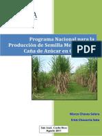 Programa Nacional Producción Semilla Mejorada Caña Azúcar