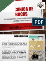 Determinacion de Las Propiedades Fisico-mecanicas de Las Rocas y Monitoreo de La Masa Rocosa